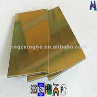 gold exterior wall mirror acp cladding