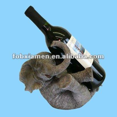 Resin elephant shaped wine bottle holder view elephant - Elephant wine bottle holder ...