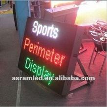 football stadium perimeter led screen display,video advertising led football perimeter display,advertising led football