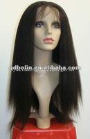 stock order fast shipping virgin AAAA malaysian full lace wigs Kinky Straight