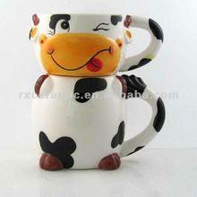 3D Animal Ceramic Doubule Shap MUg -Cow