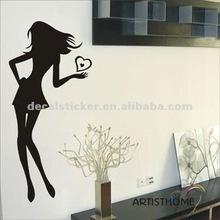 Hot Sale Pretty Girl Waterproof Wall Decor Mural Vinyl Decal&Sticker