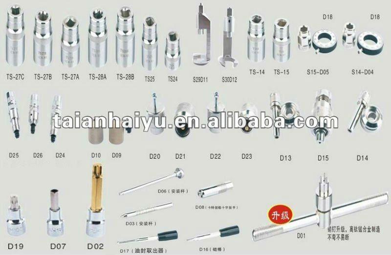 Allgemeiner schienen injektor werkzeug satz f r bosch for Common garden hand tools