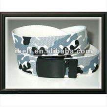 blanco de camuflaje militar cinturones web con hebilla de metal