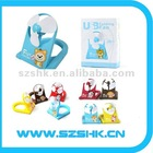 High quality new design hand held folding fans,lovely cartoon mini folding fan,promotional usb fan for PC and notebook