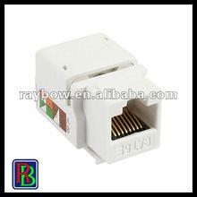 high quality Cat5e snap-in keystone jacks (8P8C) unshielded/rj45 female connector