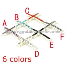 side way Cross Jewelry accessores,6 colors available, pt-638