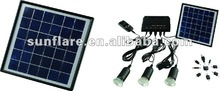 OEM 4w portable solar generator for home use with mobile phone charger