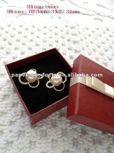 2012 hot sale custom red paper jewellery earring box