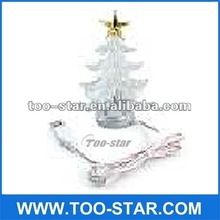 Hot selling USB Christmas Tree stand 4 Layer,star on top