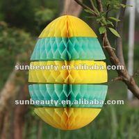 Cute fancy paper easter eggs