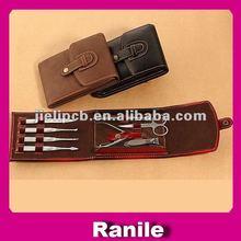 8pcs black and brown 2012 hot sale manicure set