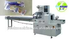 High speed flow packing machine/dual frequency inverter/touch screen/gas flushing