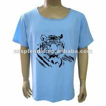 soft cotton men's tshirts,water printed tshirts