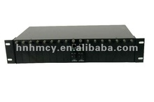 16 channel ethernet media converter rack mount