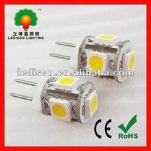 Hot !!! 0.8w LED G4 bulb light input DC12V (size: 10x15mm) LED G4 light lamp
