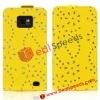 Rhinestone Inlaid Leather Case for Samsung Galaxy S2 i9100