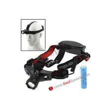 3 Mode Led Headlamps Headlamp Head Lamp for Biking/Hiking with 18650 Li-ion Battery