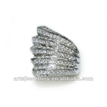High quality silver jewelry Brand new solid unique jewel 925 wax micro pave setting silver ring. fashion chrismas gift