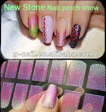 www.auparisnailart.com;Hot Nail Decoration;Nail art; Nail Foil/Patch New Stone Design