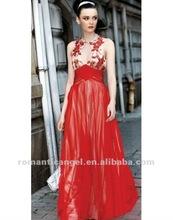 Chiffon Round Neck Embroidery Beading Empire Women's Evening Dress