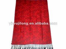 forme el mantón musulmán impreso de la bufanda del patrón de flor del punto