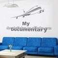 la moda de aeronaves de aviación diseño a prueba de agua para el hogar decoración de la pared de vinilo calcomanía