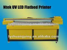 Ntek large format uv inkjet printing machine printing on glass YC2513