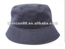 2012 Navy blue cotton material twill plain cheap bucket hat