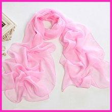 wholesale new pink chiffon scarf 2012