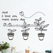 Hot Sell Cute Butterflies&Tree Cartoon Decorative Wall Vinyl Decal&Sticker