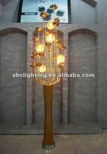 2012 Beautiful Decorative Aluminum Floor Lamp with flower
