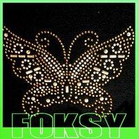 Colorful butterfly embellishment wholesale rhinestone heat transfers
