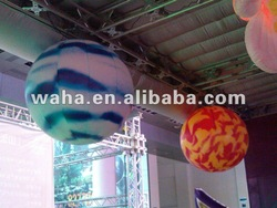 2012 hot selling fashion event stage decoration illuminated inflatable planet