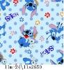 stitch print flannel fleece fabric