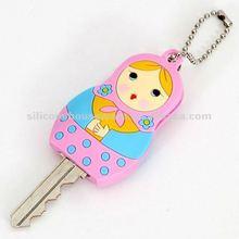 Pink Matryoshka Key Cover Charm