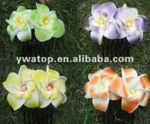 Double Layers Plumeria Flower Hair Comb