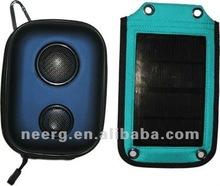 Solar Speaker Case for Cell Phone, iPod & Laptop with Double Speaker