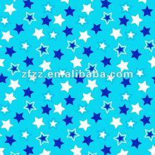 good quality super soft star print flannel fleece fabric