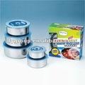 4 pz per set contenitore per alimenti, alto quanlity in acciaio inox vuoto contenitore per alimenti/3 strati acciaioinossidabile lunch box