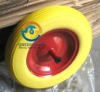 3.50-8 pu foam wheel, pu foam wheel for wheelbarrow, 14x4 flat free wheel