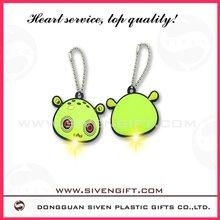 2012 OEM produce fashion led 3D soft PVC keychain