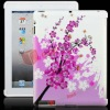 Exquisite and Elegant Flowers TPU Back Case for iPad 2(Pink & White)