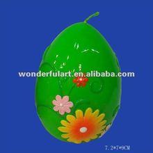 ball flower paraffin wax green candle