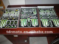 Dirt bike sticker sheet