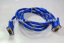 Nylon High Resolution HD15 3+6 VGA cable