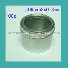 2012 hot saling Round cosmetic Aluminum jar