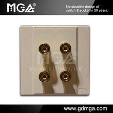 2 gang audio and sound socket outlet mga a8 series