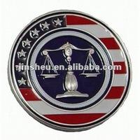 USA enamel metal coins