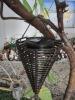Cone Shaped Solar Antique Rattan Lantern Lamp(SO8914)